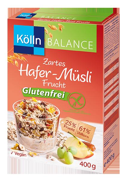 Zartes Hafer-Müsli Frucht Glutenfrei